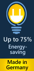 save energy up to 75 %